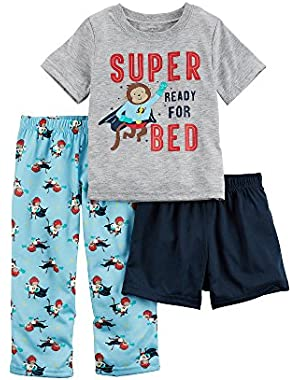 Carter's Baby Boys' Super Ready For Bed 3-Piece Pajama Set