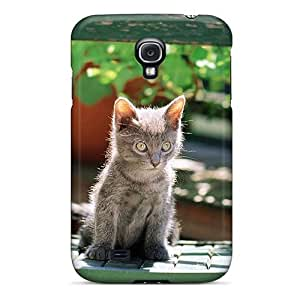 Defender Case With Nice Appearance (sweet Cat In Garden) For Galaxy S4