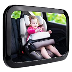 Safety is a top priority.  Zacro mirror features a shatter-proof safety surface which has been crash tested and certified to provide peace of mind that in the event of an accident, your child is safe. The black polymer plastic holds the mirro...