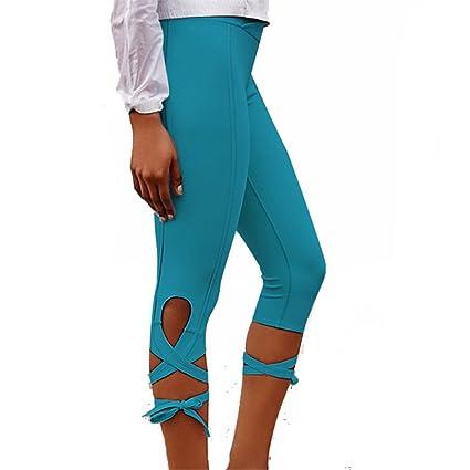 50f43bf33eeb7 Amazon.com : ZOOB MILEY Women Yoga Pants Running Capris String-End ...