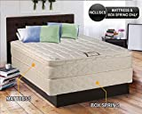 Dreamy Collection Medium Firm Eurotop (Pillowtop) Queen 60''x80''x10'' Mattress and Box Spring Set-Spinal Back Support, Premium edge guards, Longlasting Comfort by Dream Solutions USA