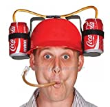 Cap beer cap Drinker Beer and Soda Guzzler Helmet-RED color ship from korea
