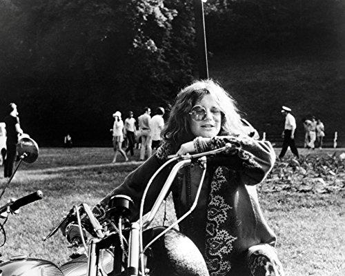 Janis Joplin 16x20 Canvas Classic Image On Motorbike Hippy C