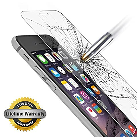 iPhone 6 Plus Screen Protector, Gembonics Tempered Glass, 99% Touch-screen Accurate, Round Edge [0.3mm] Ultra-clear Perfect Fit 5.5 inch Maximum Screen Protection from Bumps, Drops, Scrapes and (Android S4 Privacy Screen)