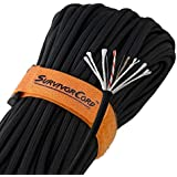 "620 LB SurvivorCord | The Original Patented Military Type III 550 Paracord/Parachute Cord (5/32"" Diameter) with Integrated Mono Fishing Line, Multi-Purpose Utility Wire, and Waterproof Fire Tinder."