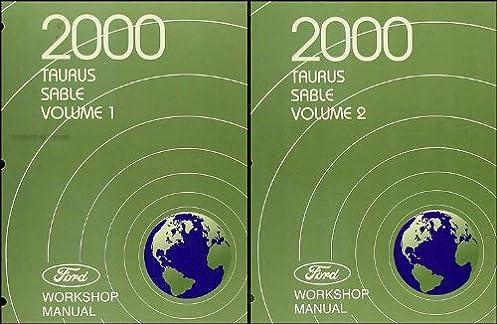 2000 ford taurus mercury sable repair shop manual 2 volume set rh amazon com 2017 Ford Taurus 2018 Ford Taurus