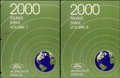 2000 Ford Taurus & Mercury Sable Repair Shop Manual 2 Volume Set Original ()