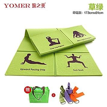 YOOMAT El Yoga para Principiantes Mat Antideslizante Mat ...