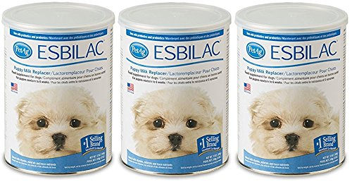 (3 Pack) Pet Ag Esbilac Powder Puppy Milk Replacer and Dog Food Supplement - 12 Ounce by Pet Ag