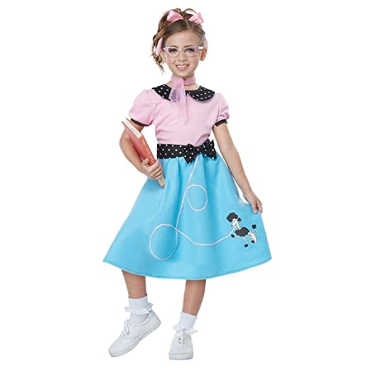 84fae14a3972 Amazon.com: Little Girls' 1950s Sock Hop Costume: Toys & Games