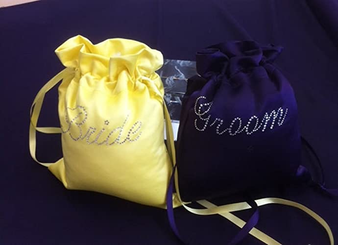Image Unavailable. Image not available for. Color  Custom Made Money Bags  for Wedding Day Dollar Dance ... 6b7c407e6d8fe