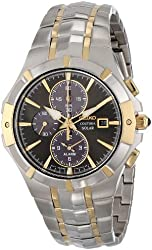 Seiko Men's SSC198 Analog Display Japanese Quartz Two Tone Watch