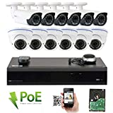 GW Security 16CH 5 Megapixel 1920P Video Home Security Camera System, 6pcs HD 1920p 5MP Outdoor Bullet & 6pcs Dome IP Camera ,80-120ft Night Vision, 330ft Transmit Range, 4TB HDD Review