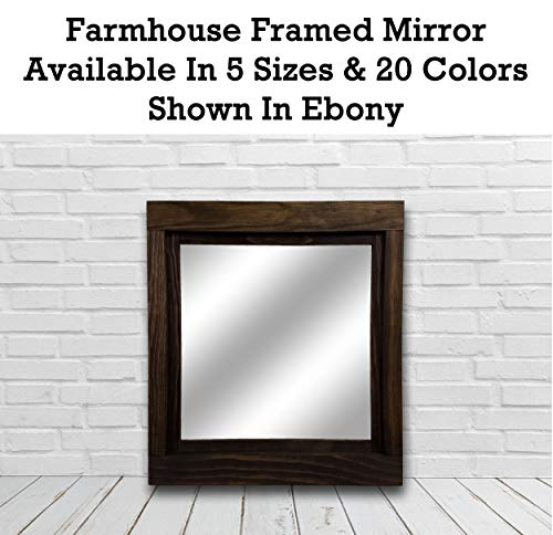 Farmhouse Large Framed Mirror Available in 5 Sizes and 20 Colors: Shown -