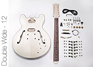 diy electric guitar kit 12 string 335 style build your own guitar kit musical. Black Bedroom Furniture Sets. Home Design Ideas