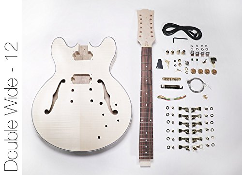DIY Electric Guitar Kit ? 12 String 335 Style Build Your Own Guitar Kit