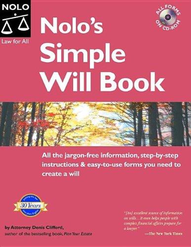 Pdf Law Nolo's Simple Will Book 6th Edition