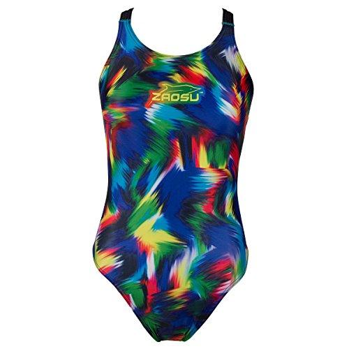 ZAOSU Trainings-Schwimmanzug Z-Rainbow für Mädchen und Damen, Größe:40