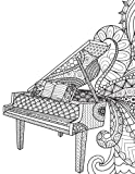 img - for Blank Book Journal: Piano Music Zentangle Cover Diary Notebook: 8.5 x 11 size 120 gray lined pages! book / textbook / text book
