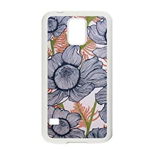 MEIMEIPink Floral Customized Cover Case for SamSung Galaxy S5 I9600,custom phone case ygtg569924MEIMEI