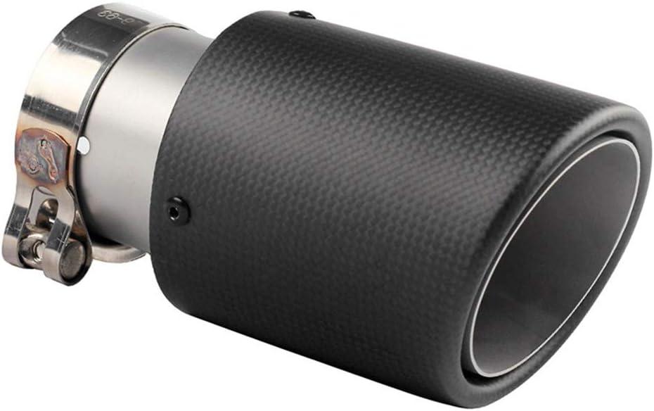 Borde rodante de carbono negro mate Granallado de acero inoxidable Tubos de escape de la cola del automóvil Puntas del extremo del silenciador trasero Universal