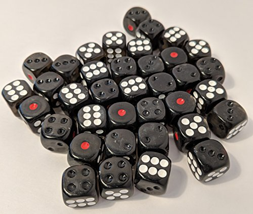 12 Dice - Cyberpunk Gaming Dice - d6 Set - RPG dice for Shadowrun - 36 dice 12mm - Enough for Any Roleplaying Game to Count The Hits and glitches