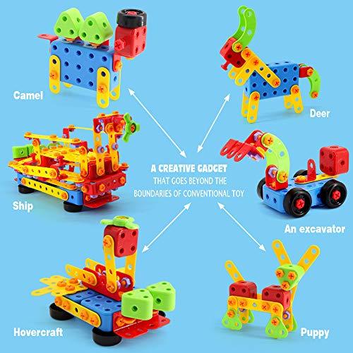 VATOS 316 PCS Stem Building Toys,Building Blocks Toys for Kids,Take Apart Toys,Preschool Educational Block Set, Best Gift for Kids 3-8 Years Old