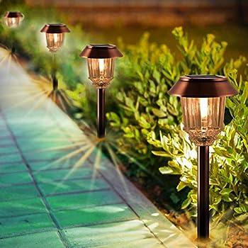 Moonrays 91754 Richmond Solar LED 25X Metal Path Warm white Light Rubbed Bronze