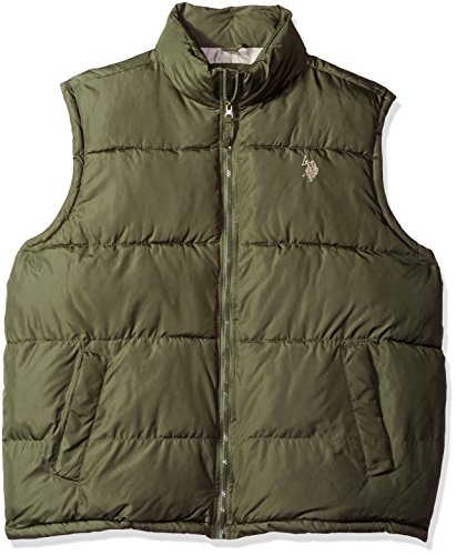 U.S. Polo Assn. Men's Tall Basic Puffer Vest, Forest Night, 2X Big