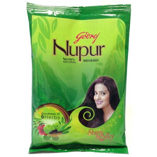 Godrej Nupur Natural Mehndi with Goodness of 9 Herbs - 450 Gm (Pack of 12) by Nupur