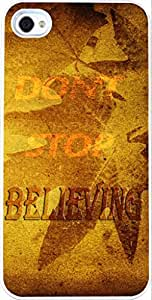 Iphone 4S Case Bible Verses Christian Quotes, Apple Iphone 4 Case Vintage Maple Leaf Don'T Stop Believing In DDJK Case