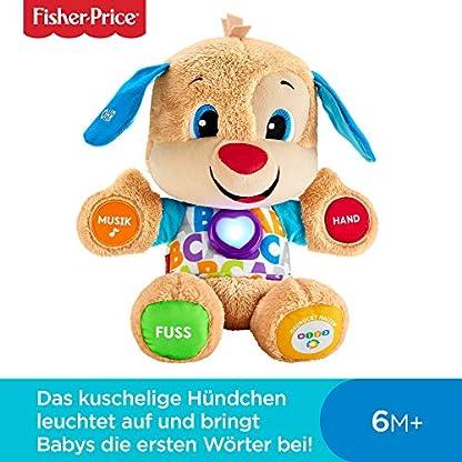 Fisher-Price FPM50 - Lernspaß Hündchen Baby Spielzeug und Plüschtier, Lernspielzeug mit Liedern und Sätzen, mitwachsende Spielstufen, Spielzeug ab 6 Monaten, deutschsprachig 2