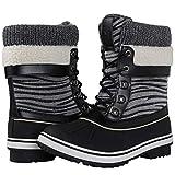 Globalwin Women's Winter Snow Boots (8 D(M) US Women's, Black/Grey)
