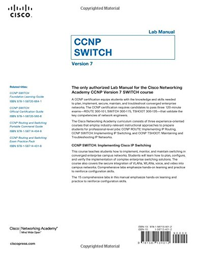 CCNP SWITCH Lab Manual (Lab Companion): Amazon.co.uk: Cisco ...
