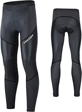 FEIXIANG Cycling Pants for Men, 3D Padded Long Bike Compression Tights MTB Legging Trousers Road Bicycle Mountain Riding Wear