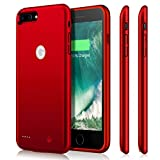 iPhone 7 plus Battery Case, Upgraded iPosible 7200mAh External Charger Case Protective Juice Pack Portable Power Case for iPhone 7 plus (5.5inch)[24 Month Warranty]-Red