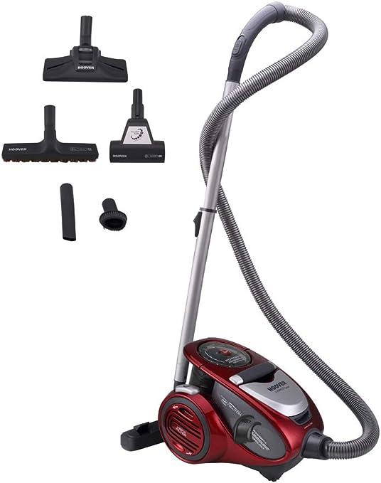 Hoover Xarion Pro XP25 Aspirador sin Bolsa, Multiciclónico, Cepillo antialergias, alfombras, Suelos Duros, Filtros Hepa, 800 W, 1.5 litros, 75 Decibelios, Plástico, Rojo: Hoover: Amazon.es: Hogar