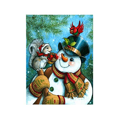 Elevin(TM) Christmas 5D DIY Rhinestone Diamond Embroid Painting Counted Paint by Number Kits Cross Stitch (F-1)