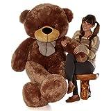 Giant Teddy brand 6 Foot Life Size Mocha Color Big Plush Teddy Bear Sunny Cuddles