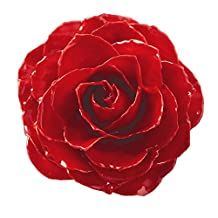 IceCarats Lacquer Dipped Red Rose Brooch Pin Floral