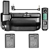 Neewer Pro Camera Battery Grip with Vertical Shooting Function for Sony A6500 Mirrorless Camera, 2.4G Wireless Remote Control up to 100 meters, 2 Pieces 1030mAh Sony NP-FW50 Replacement Li-ion Battery