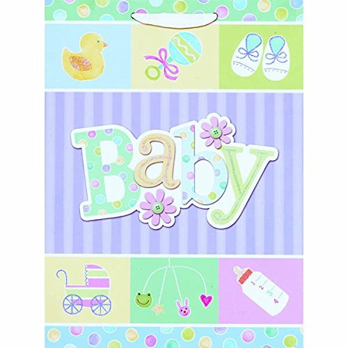 Amscan Adorable Happy Baby Shower Jumbo Specialty Bag , Mult