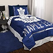 NHL 4-Piece Twin Bedding Set in a Bag Cozy Décor for Kids Includes Reversible Comforter, Flat Sheet, Fitted Sh