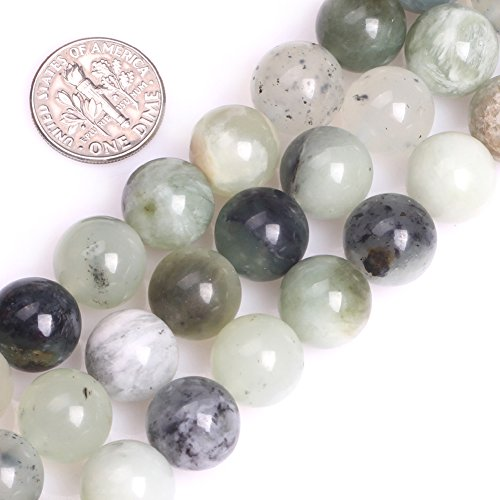- GEM-inside Hua Show Nephrite Jade 12mm Round Smooth Gemstone Beads for Jewelry Making Loose Beads Strands 15 Inches