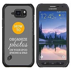 Stuss Case / Funda Carcasa protectora - Organizar Cómo Gris Amarillo - Samsung Galaxy S6Active Active G890A