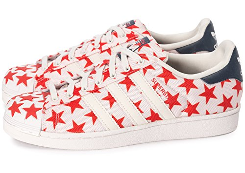 Et Rouge Toe Blanche Star 44 Blanc Superstar Shell adidas Pack O64Agg
