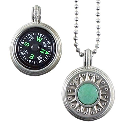- Journeyworks Compass Rose with Aventurine Compass Pendant