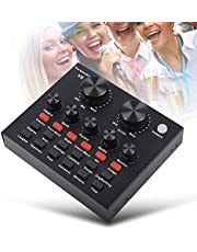 Tangxi Live Sound Card, Voice Changer Device for Karaoke, Sound Card with Multiple Funny Sound Effect, for Recording YouTube LiveMe Facebook Live Periscope Anchor, 112 Kinds of electroacoustic