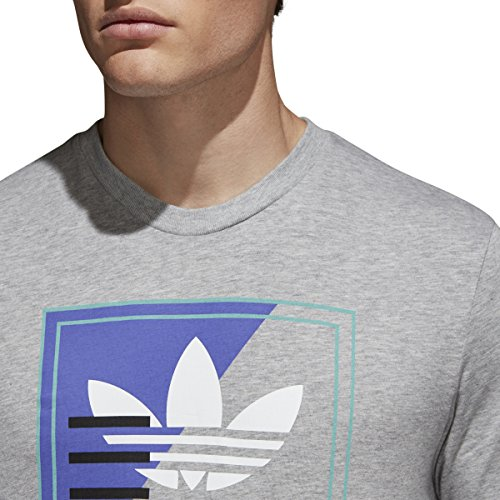 shipping discount authentic Adidas Tongue Label Tee Heather Grey cheap sale Manchester discount huge surprise SWs4MZy4E