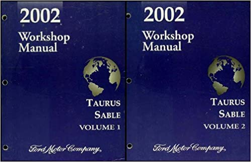 2002 Ford Taurus Mercury Sable Repair Shop Manual Original 2